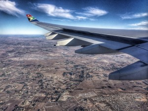 Flying into Johannesburg, South Africa - photo by Renel Holton / www.renelholton.com