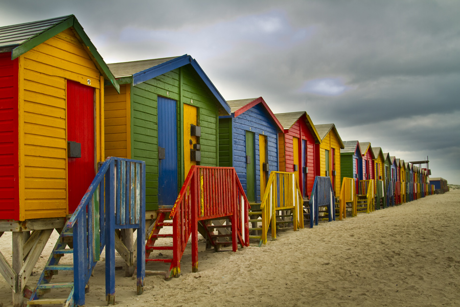 Muizenberg Beach huts - photo by Renel Holton - www.renelholton.com / IMG_7364 edit 2