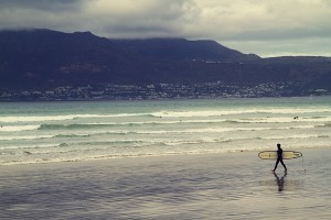 surfer on Muizenberg Beach, South Africa - photo by Renel Holton - www.renelholton.com / IMG_7372 edit 1