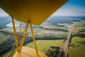 view from 1940s Stearman flight at the Flying Circus Balloon Festival / photo by Renel Holton / www.renelholton.com / IMG_2320
