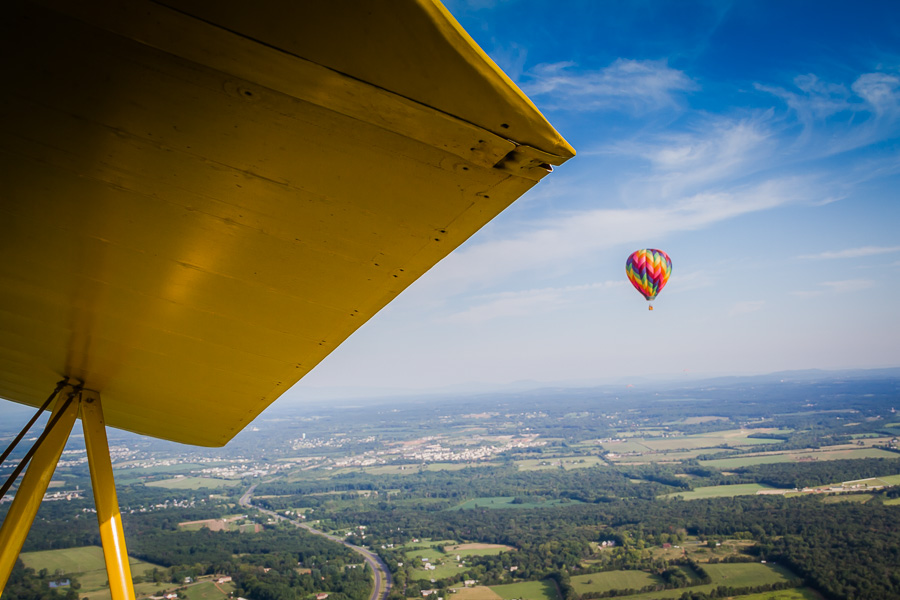 view from 1940s Stearman flight at the Flying Circus Balloon Festival / photo by Renel Holton / www.renelholton.com / IMG_2345