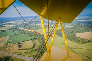 view from 1940s Stearman flight at the Flying Circus Balloon Festival / photo by Renel Holton / www.renelholton.com / IMG_2392